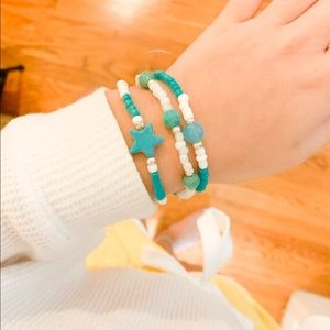 Jewelry - Turquoise beach bracelet trio☀️🌊🌈